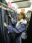 Out-of-town customers shop for great bargains!